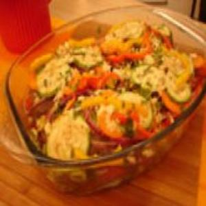 Receita de Lasanha de bifes e legumes