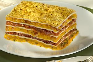 Receita de Lasanha de Jerimum com Carne Seca