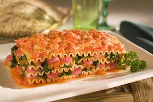 Receita de Lasanha de Linguiça e Tomate