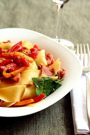 Receita de Linguiça com pimentão