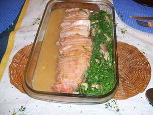 Receita de Lombo Suíno com Couve na Manteiga