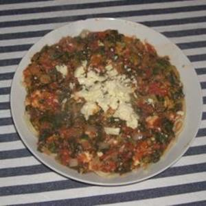 Receita de Macarrão com brócolis assado e queijo feta