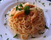 Macarrão com Estrogonofe e Frutos do Mar