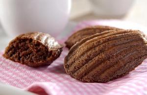 Receita de Madeleines de Chocolate e Laranja