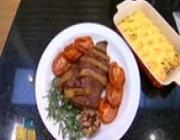 Maminha ao Forno com Bacon e Tomate e Nhoque à Romana