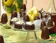 Marshmallow com cobertura de chocolate