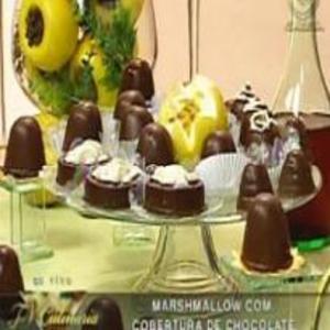 Receita de Marshmallow com cobertura de chocolate