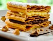 Mil-Folhas de Nutella com Crocante de Avelã