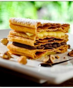Receita de Mil-Folhas de Nutella com Crocante de Avelã