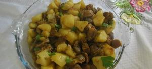 Receita de Moela de frango com batata