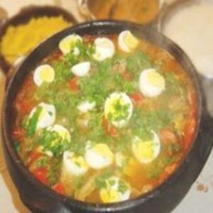 Receita de Moqueca de Ovos