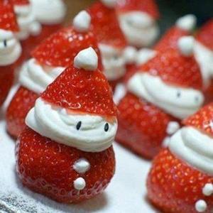 Receita de Morangos Papai Noel