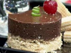 Receita de Mousse de Chocolate com Farofa de Limão