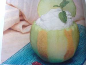 Receita de Mousse Gelado de Meloa