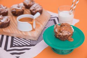 Receita de Muffin de Torrada com Calda de Doce de Leite