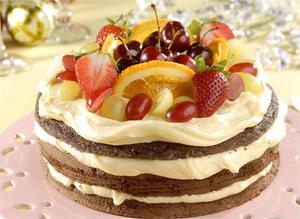 Receita de Naked Cake Natalino