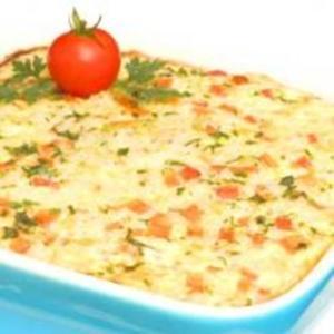 Receita de Omelete assado de arroz