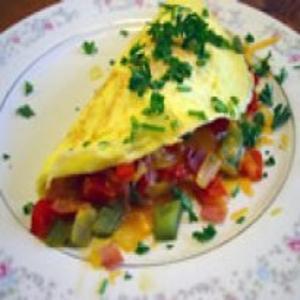 Receita de Omelete com Jardineira de Legumes