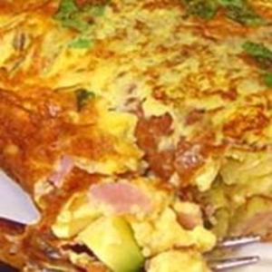 Receita de Omelete com presunto, queijo e ervas