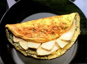 Receita de Omelete com Queijo Brie