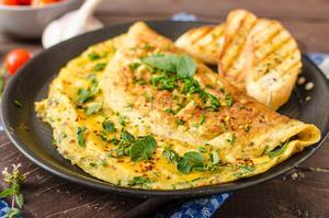 Receita de Omelete de Espinafre com Queijo