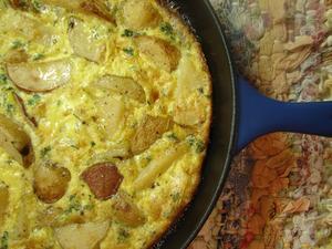 Receita de Omelete de Queijo, Presunto e Ervas