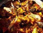 Paella de frutos do mar do Globo Repórter