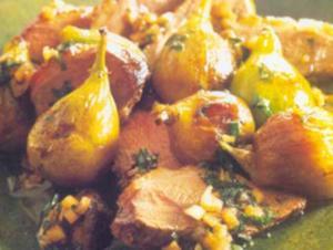 Receita de Peito de pato ao molho de cebola com figos