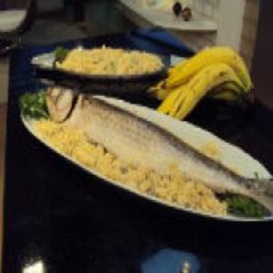 Receita de Peixe no Sal Grosso do Edu Guedes