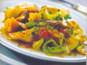 Receita de Peru ao molho de laranja com alcachofras