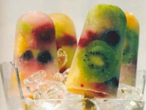Receita de Picolé de frutas tropicais