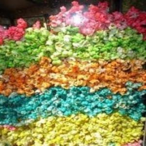 Receita de Pipoca doce colorida