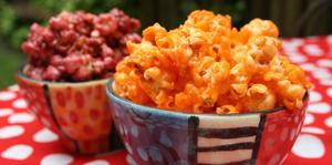 Receita de Pipoca doce colorida com Suco em Pó