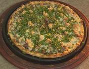 Pizza de feijão tropeiro