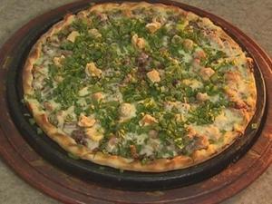 Receita de Pizza de feijão tropeiro
