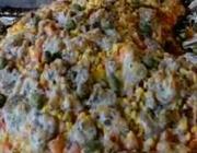 Pizza de peixe do Globo Rural