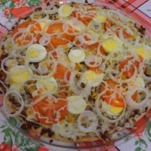 Receita de Pizza Vegetariana Caseira