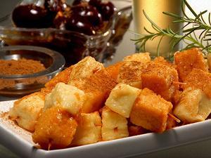 Receita de Polenta Frita com Queijo Coalho