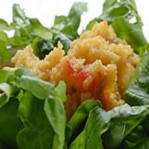 Receita de Polenta Mole com Rúcula e Tomate Seco