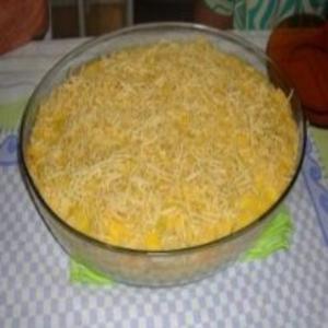 Receita de Purê de batatas com frango desfiado com creme de milho