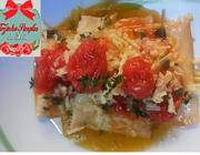 Ravioli de Brie com Confit de Tomate