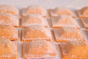 Receita de Ravioli de salmão com alho poró