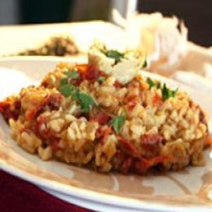 Receita de Risoto de Alcachofra com Tomate Seco