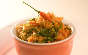 Receita de Risoto de bacalhau ao tomate e couve