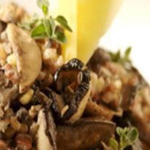 Receita de Risoto de grãos com cogumelos frescos