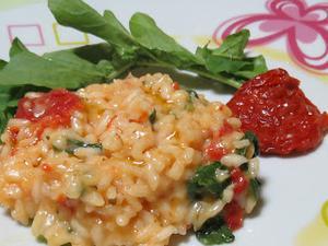 Receita de Risoto de Rúcula com Tomates Secos