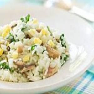 Receita de Risoto de sardinha e espinafre