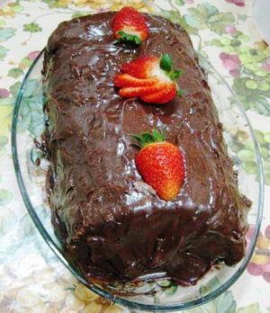 Receita de Rocambole de Chocolate