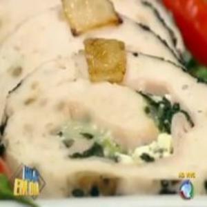 Receita de Rocambole de frango do Edu Guedes