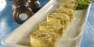 Receita de Rocambole de omelete